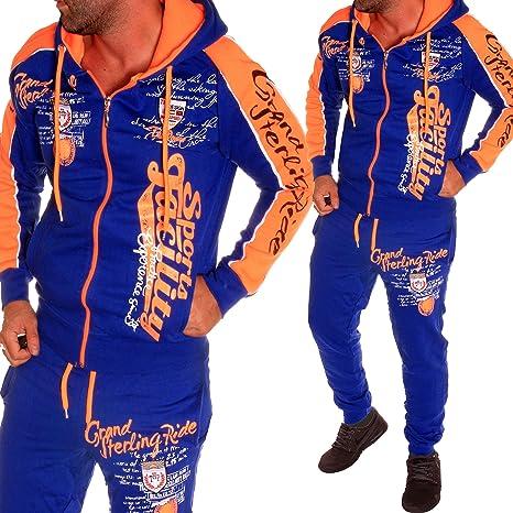 Chándal para hombre con chaqueta + pantalón chándal deportivo ...