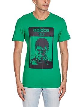 Adidas Hulk - Camiseta para Hombre, Color Verde/Negro, Talla S: Amazon.es: Deportes y aire libre