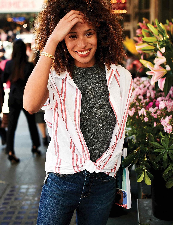 Brand Goodthreads Womens Vintage Cotton Pocket Crewneck T-Shirt