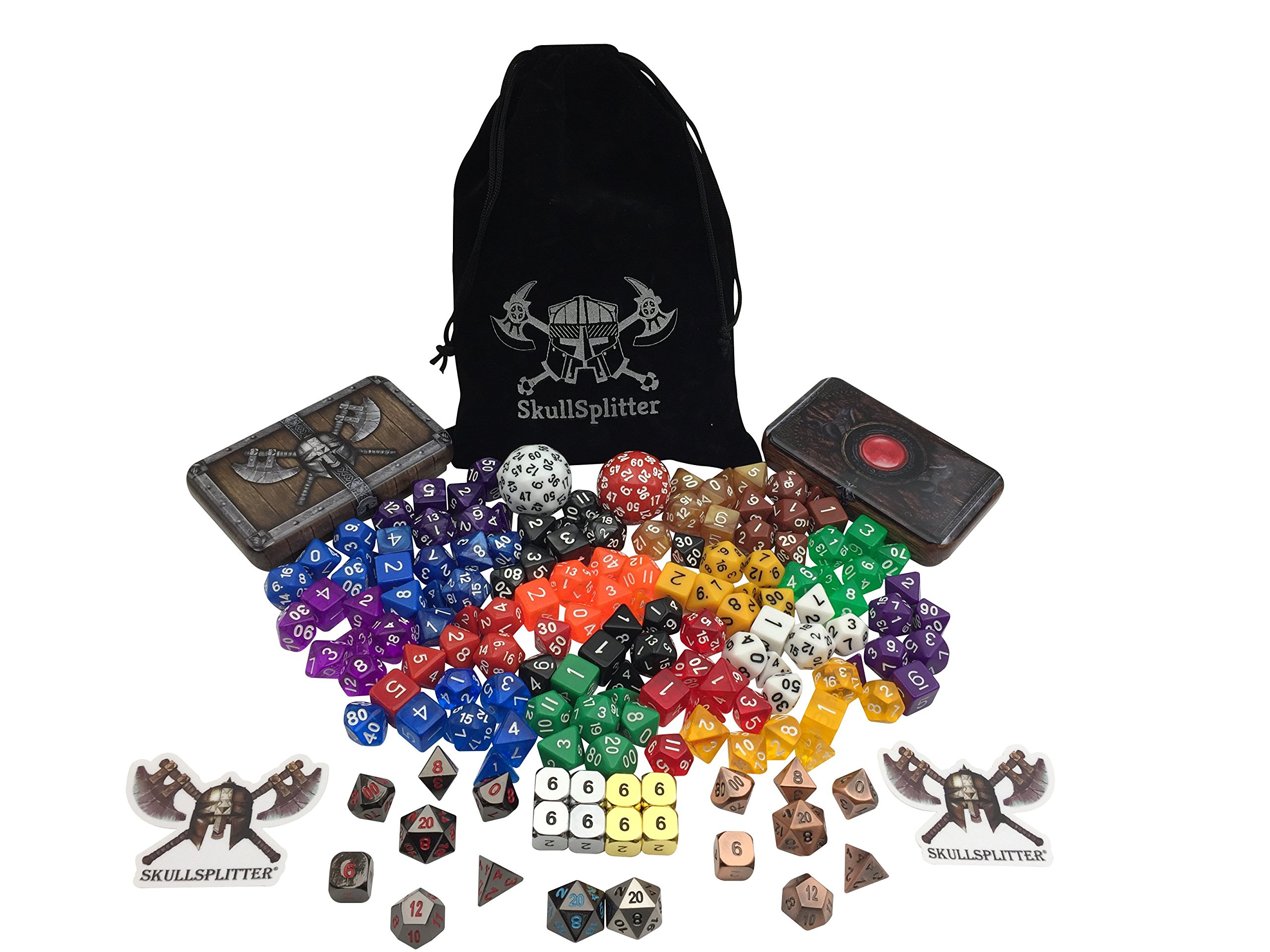 SkullSplitter Dice Demi-God Bundle | Role Playing Games Metal and Plastic Dice