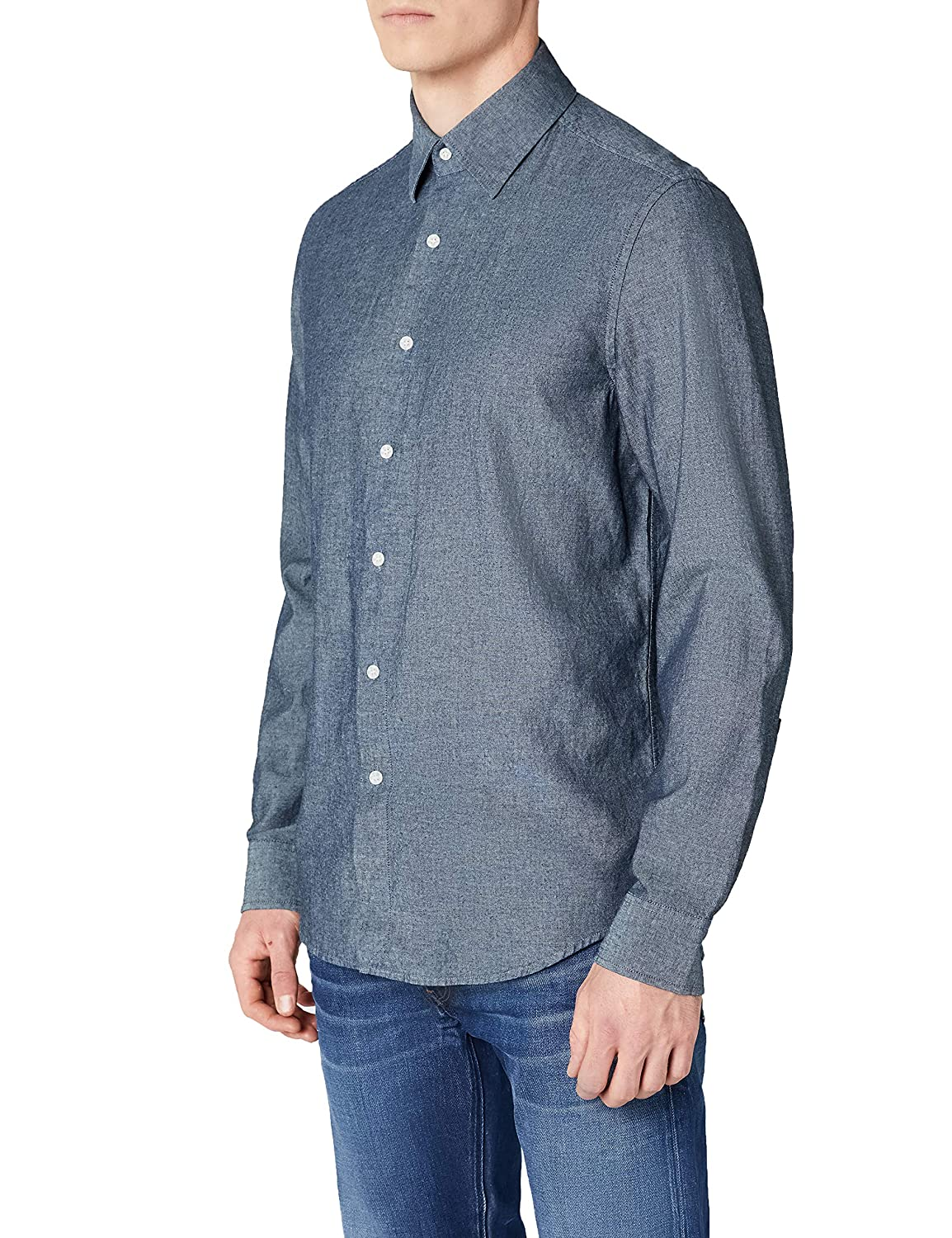 G-STAR RAW Core Straight Shirt L/S Camisa para Hombre