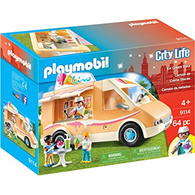 PLAYMOBIL Ice Cream Truck: Toys & Games