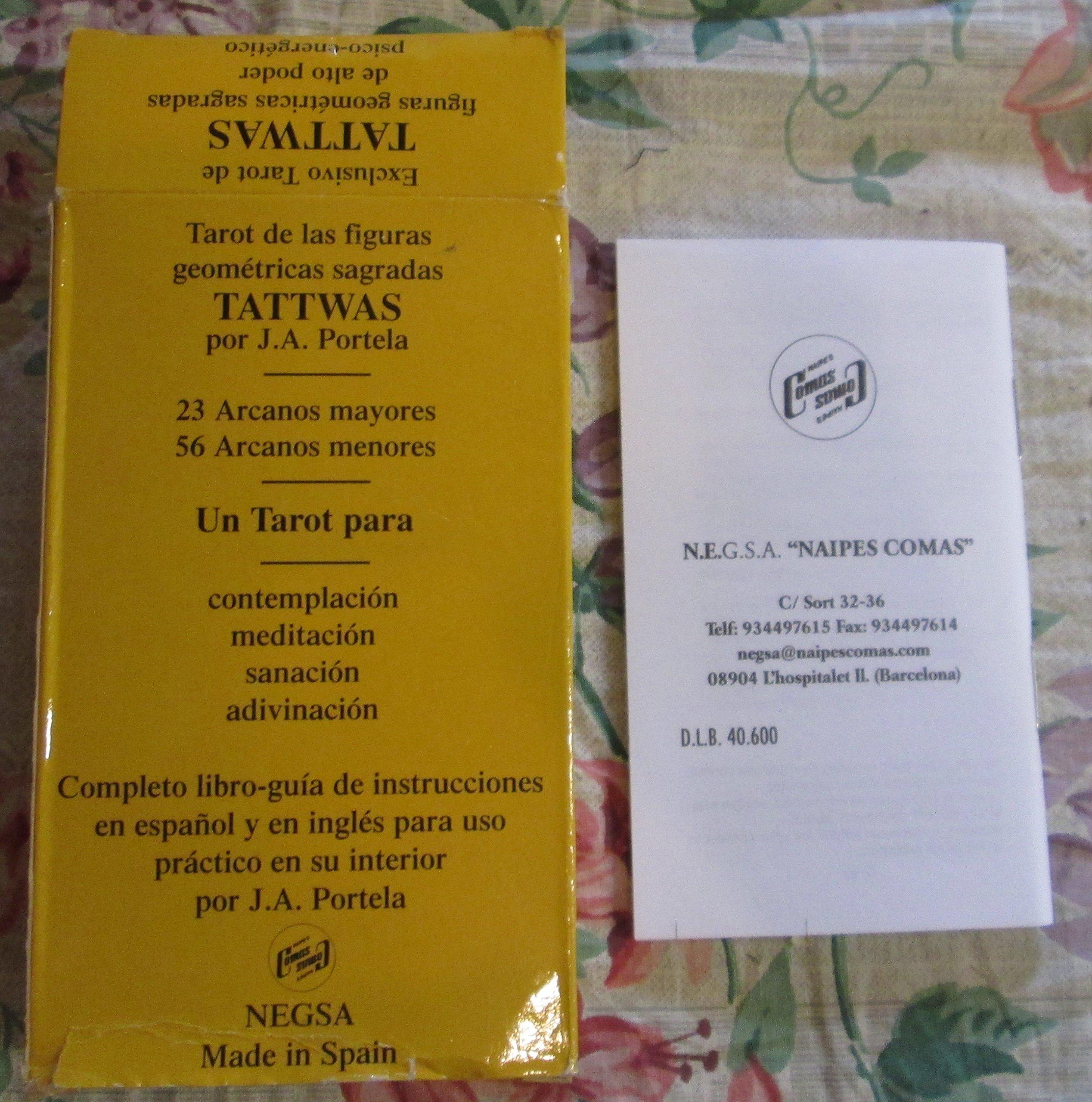 TAROT DE TATTWAS (CARTAS): Portela J.: Amazon.com: Books