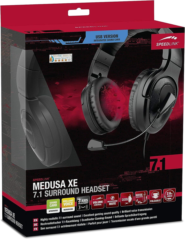 Speed-Link Medusa XE Auriculares con micrófono y mando a distancia con cable para Playstation 4/PS4 (3,5 mm, conexión directa a el controlador) Negro (Certificado y General para embragues): Amazon.es: Videojuegos