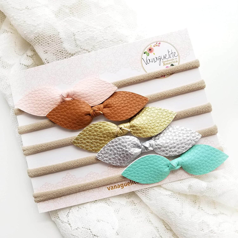 Amazon.com: Vanaguelite - Diademas para bebé, lazos de piel ...