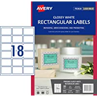 Avery Glossy Rectangle Labels, 62 x 42 mm, 180 Labels (980013 / L7109)