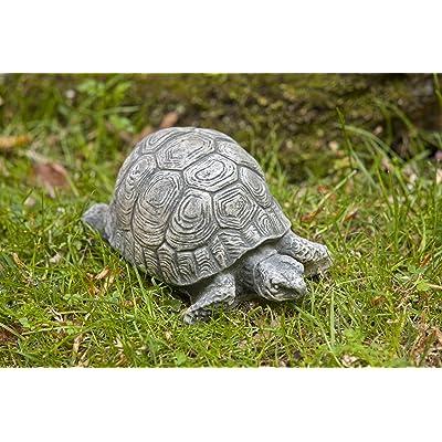 Campania International A-093-BR Turtle Statue, Small, Brown Stone Finish : Garden & Outdoor