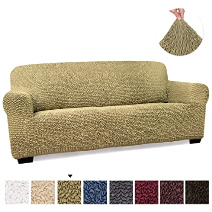 PAULATO BY GA.I.CO. Couch Cover - Sofa Cover - Sofa Slipcover - Soft Polyester Fabric Slipcover - 1-Piece Form Fit Stretch Stylish Furniture Cover - ...