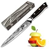 """ZELITE INFINITY Utility Knife 6"""" - Petty Knives - Best Quality Japanese VG10 Super Steel 67 Layer High Carbon Stainless Steel-Razor Sharp, Superb Edge Retention, Stain & Corrosion Resistant! Full Tang"""
