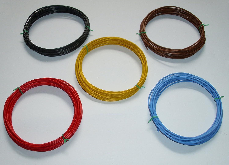 /€ 0,45//m w. L/ängen siehe Beschreibung 5 x 5m 0,35mm/² Kfz Kabel Set Litze Flry
