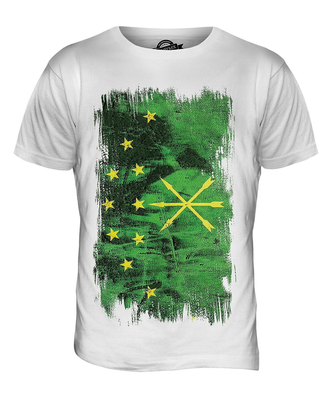 CandyMix Men's Adygea Grunge Flag T Shirt T-Shirt Top