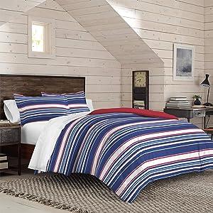 IZOD Jamey Stripe Comforter Set, Twin/Twin XL, Blue