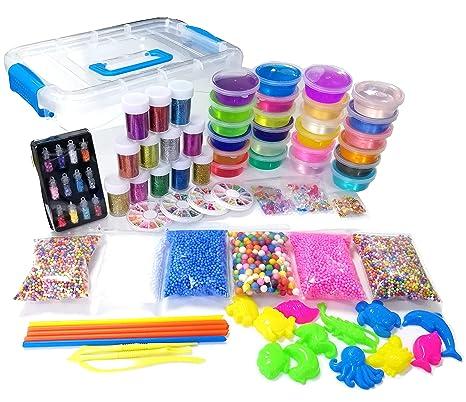 40ed4078f DIY Crystal Slime Making Kit for Kids - Super Slime in 24 Colors Big Kids  Craft