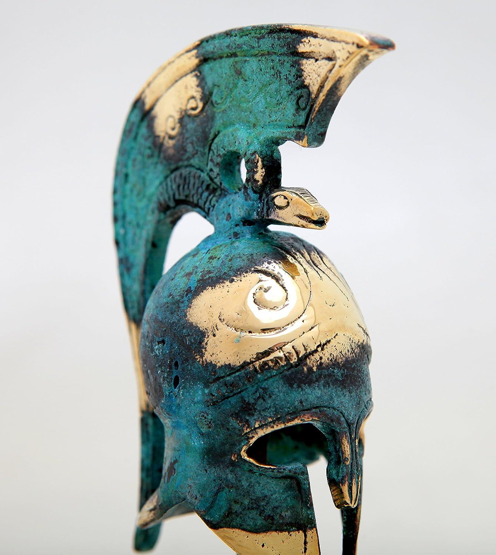 374/–1 IconsGr Grec Ancien Bronze R/éplique de Thespian Casque sur Une Base