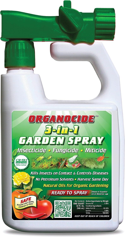 Organic Laboratories Labs Quart Organocide 3-in-1 Garden Spray Hose End
