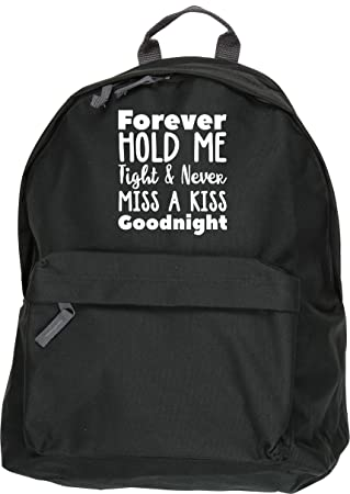 747f5ad2fefb HippoWarehouse Forever Hold me Tight and Never Miss a kiss Goodnight  Backpack ruck Sack Dimensions  31 x 42 x 21 cm Capacity  18 litres   Amazon.co.uk  ...