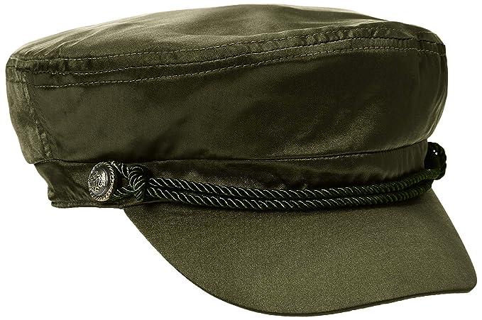 3eff4c44a Amazon.com: Rebel Canyon Women's Satin Cadet Cap Olive Green: Clothing