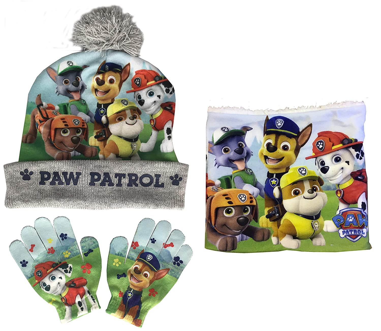 PAW PATROL HAT, SNOOD AND GLOVES SET by Jujak