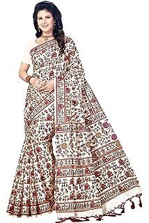 36be8b75d75 OOMPH! Bhagalpuri Silk Saree (rbks festival079 Beige Free Size ...