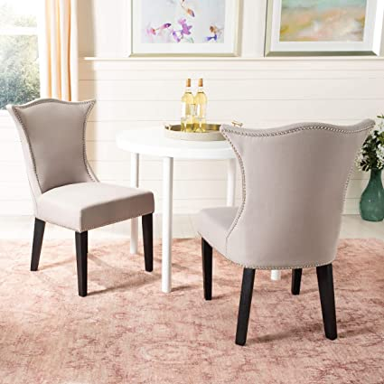 Amazon Com Safavieh Mercer Collection Ciara Side Chair Taupe Set