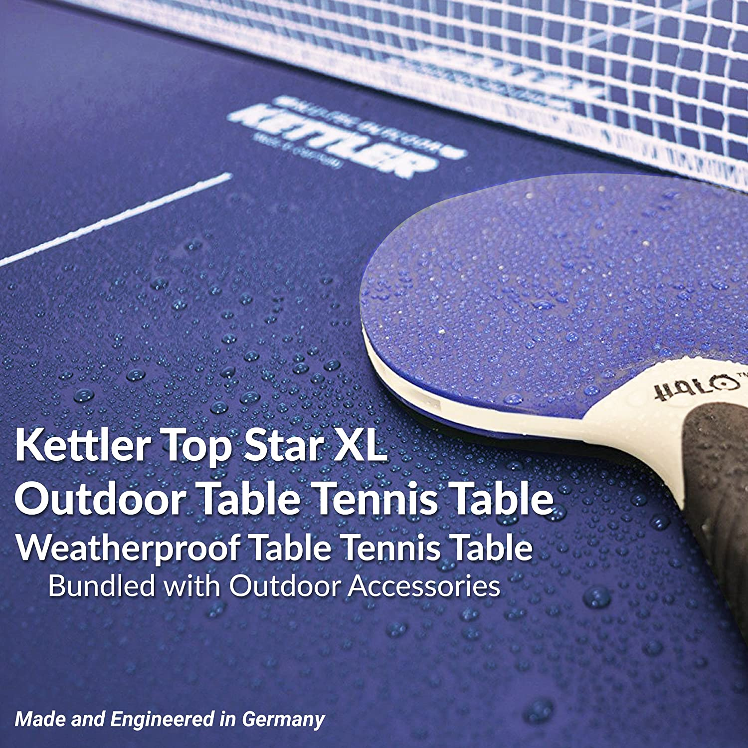 Kettler Top Star XL Weatherproof Table Tennis Table With Outdoor Accessory  Bundle: Amazon.co.uk: Sports U0026 Outdoors