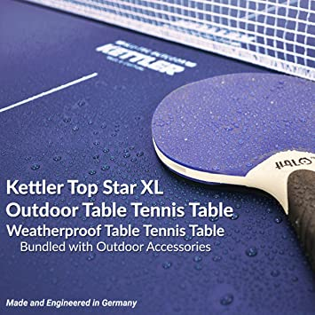 Amazon.com : Kettler Top Star XL Weatherproof Table Tennis Table With  Outdoor Accessory Bundle : Sports U0026 Outdoors