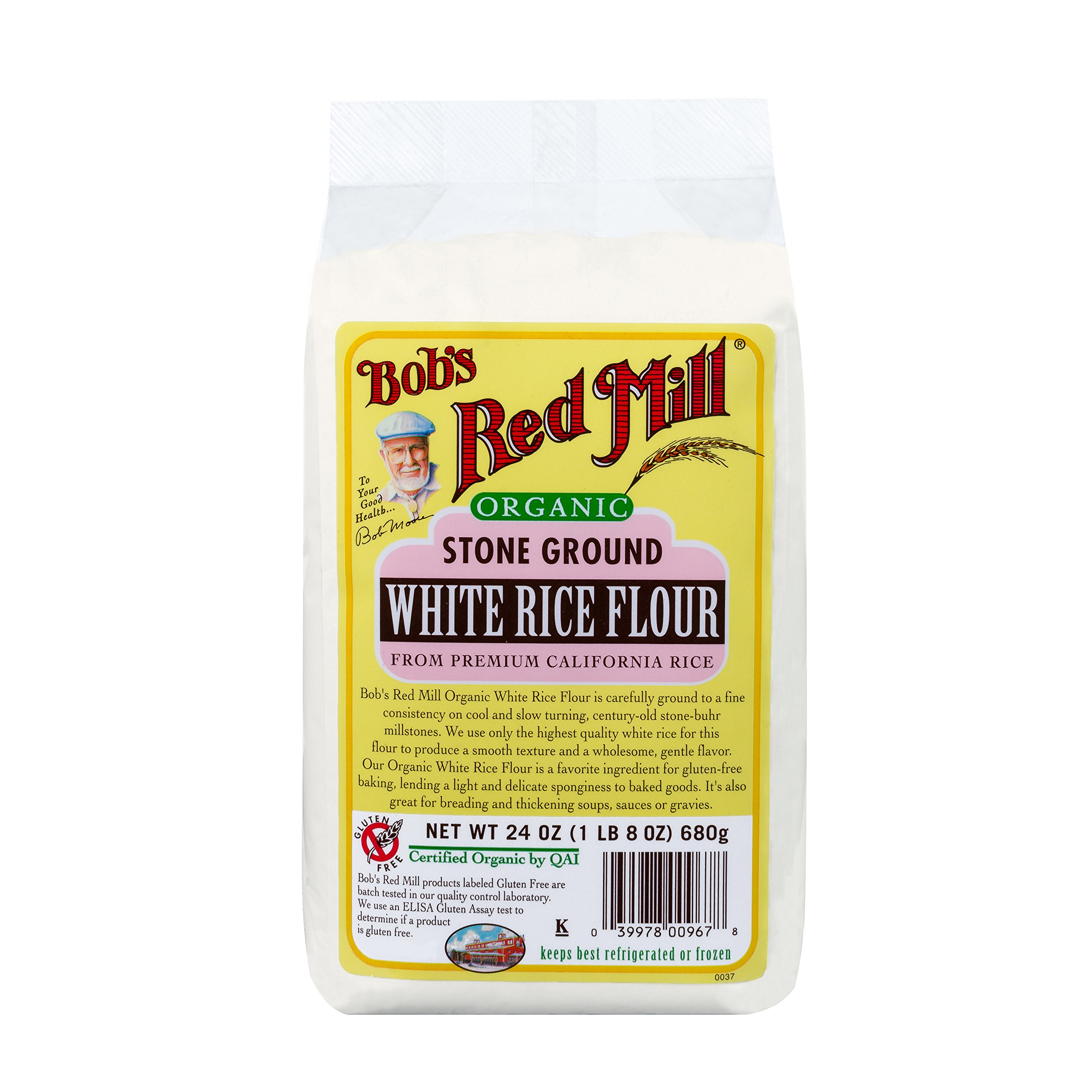 Bob's Red Mill Organic White Rice Flour, 24-ounce (Pack of 4) by Bob's Red Mill