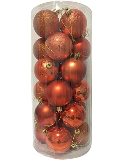 Christmas Tree Decorations Xmas Tree Baubles Glitter Gloss /& Matt Copper
