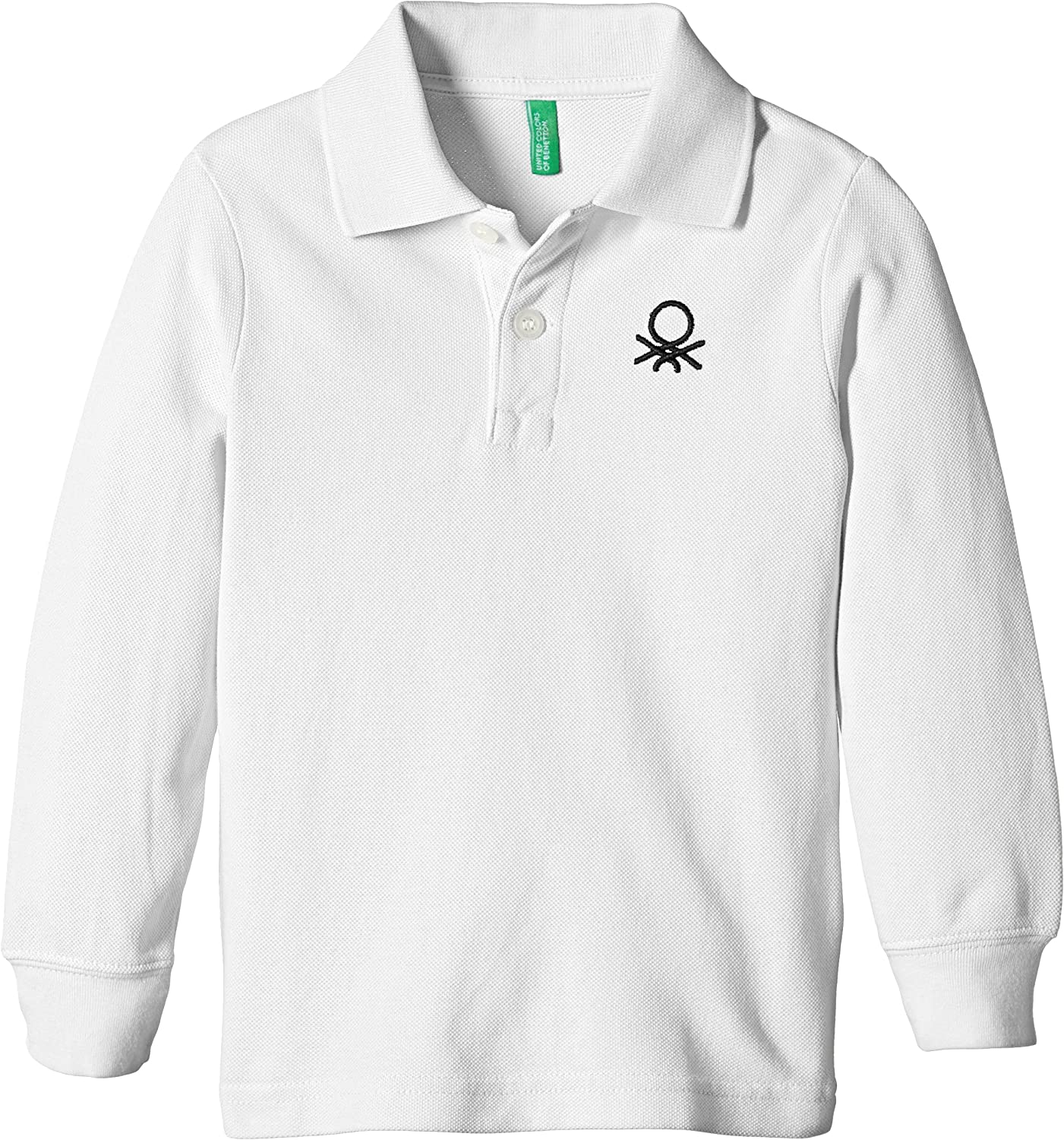 United Colors of Benetton 3089C3302 Long Slv Polo, Blanco, 12-18 ...