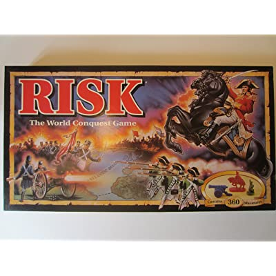 Parker Brothers Risk 1993 Board Game with Army Shaped Miniatures: Toys & Games