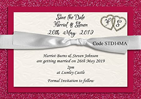 The invite factory personalised save the date wedding invitation the invite factory personalised save the date wedding invitation cards size a6 with free envelopes stopboris Image collections