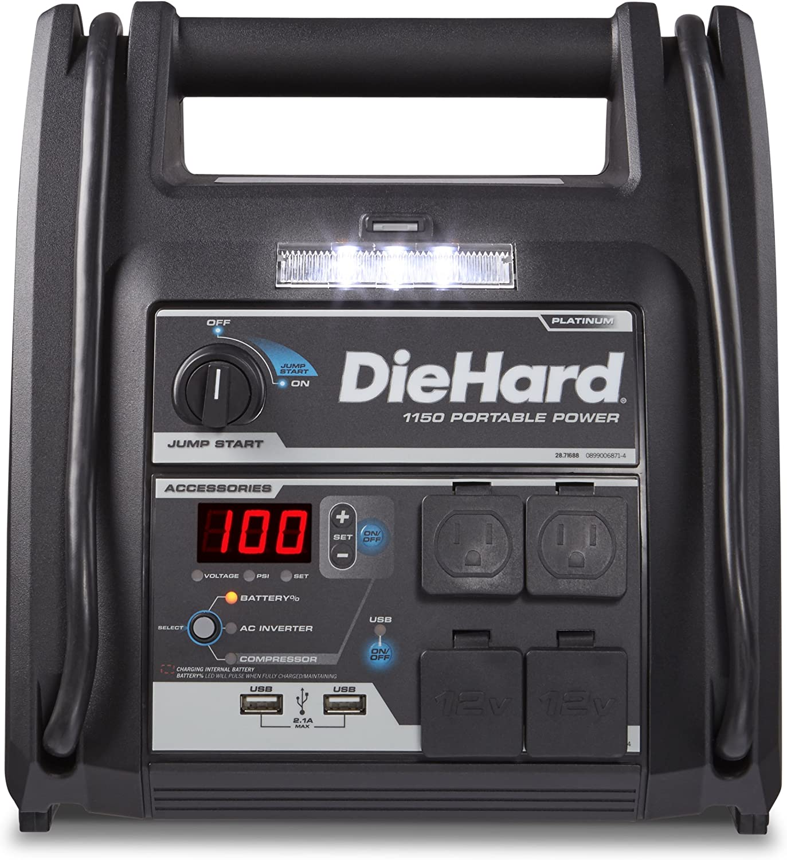 DieHard 2871688 Platinum Portable 1150 Peak Amp 12 Volt Jump Starter  Power