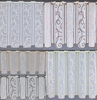 Scheibengardine Sterne Bistrogardine Gardine Panneaux Küche 30//45//60//90//120 hoch