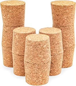 Tapered Cork Plugs for Wine Bottles, DIY Crafts (1.7 x 1.5 In, 12 Pack)