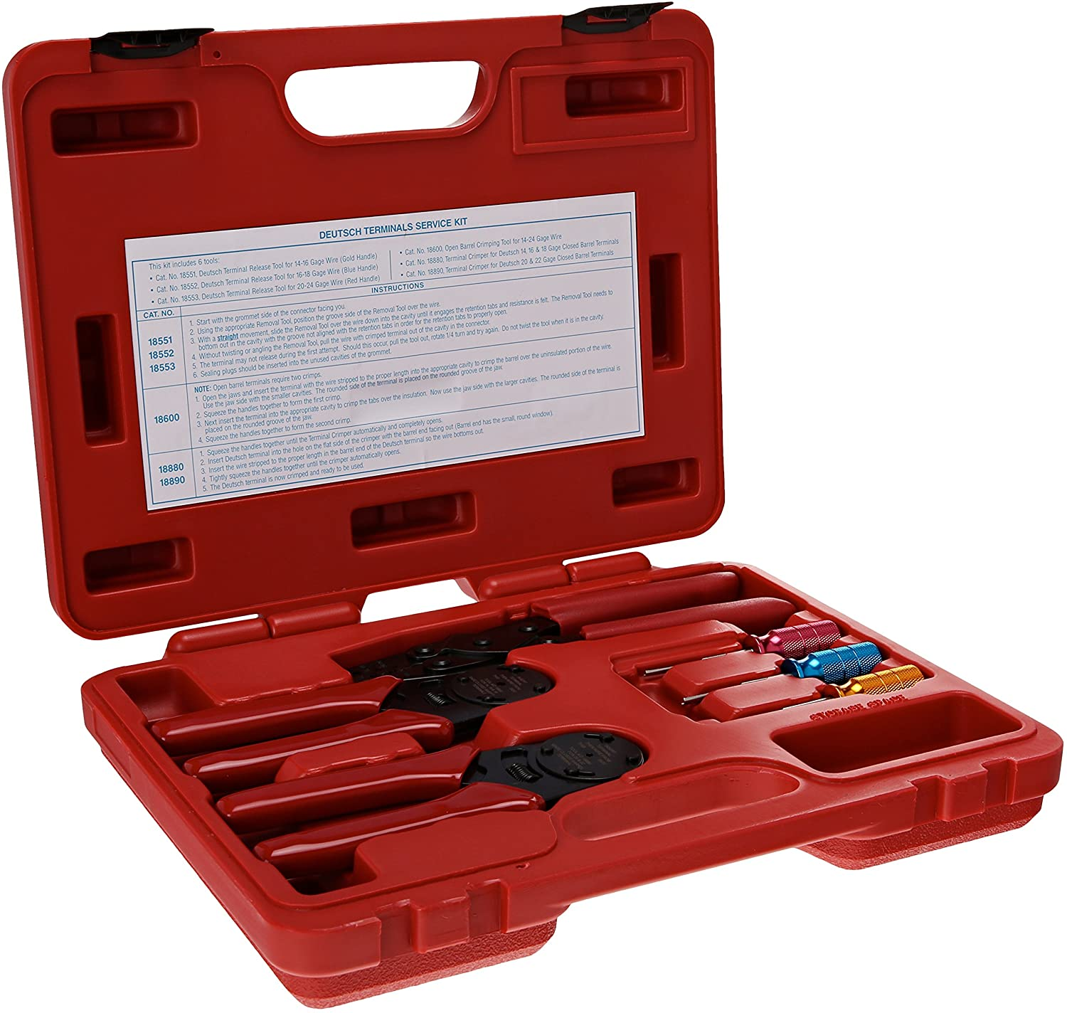 Tool Aid 18550 Deutsch Terminal Electrical Connector Release Tool Kit