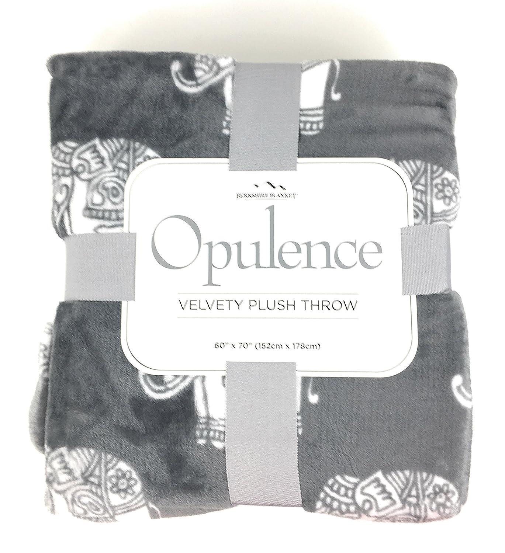 Amazon.com: Berkshire Blanket Velvety Plush Elephant Throw Blanket ...
