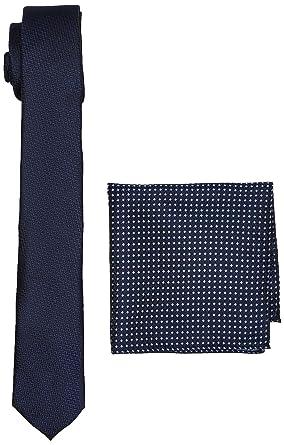 Burton Menswear London Navy Texture Set, Coffret Cravate Homme, Blue,  Taille Unique f1e8b32e23c