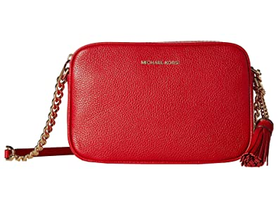 16512f2fb MICHAEL Michael Kors Ginny Leather Camera Crossbody Bag Bright Red ...