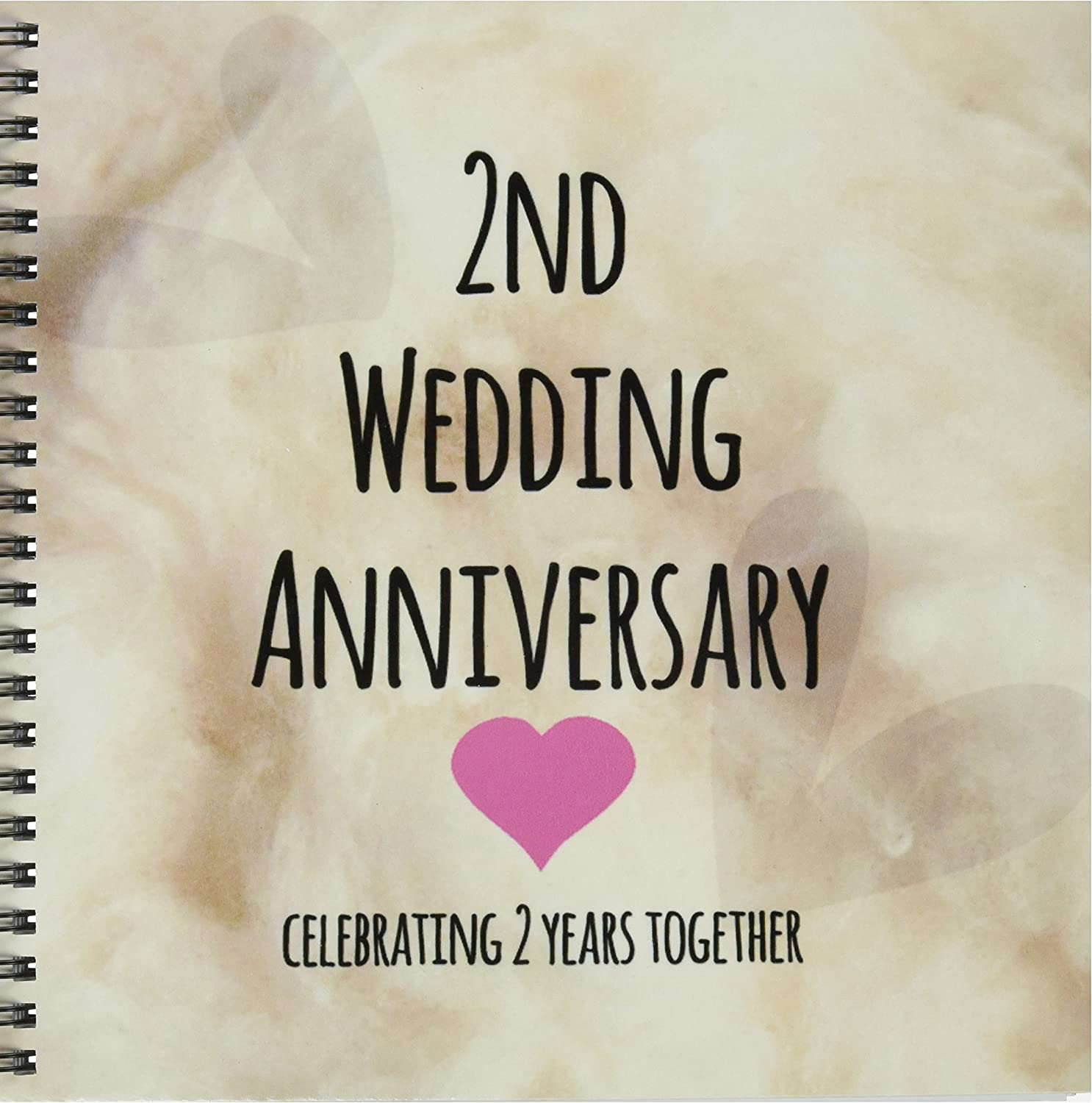 Amazon Com 3drose Db 154429 2 2nd Wedding Cotton Celebrating 2 Years Together Second Anniversaries Two Years Memory Book 12 By 12 Inch Arts Crafts Sewing