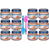 Gerber 2nd Foods Baby Food Variety Pack Includes Chicken, Turkey & Beef (Pack of 12) + Limited Edition By The Cup Spoons