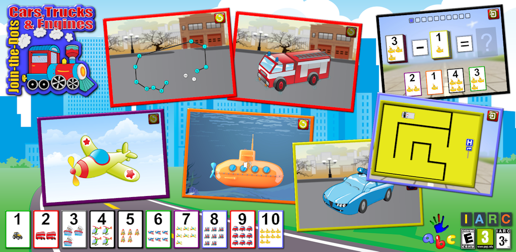 Galleon - ABC Preschool Car Truck And Engine Connect The Dot Puzzle ...