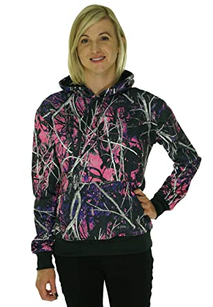 Muddy Girl Pullover Camo Hoodie at Amazon Women's Clothing store: