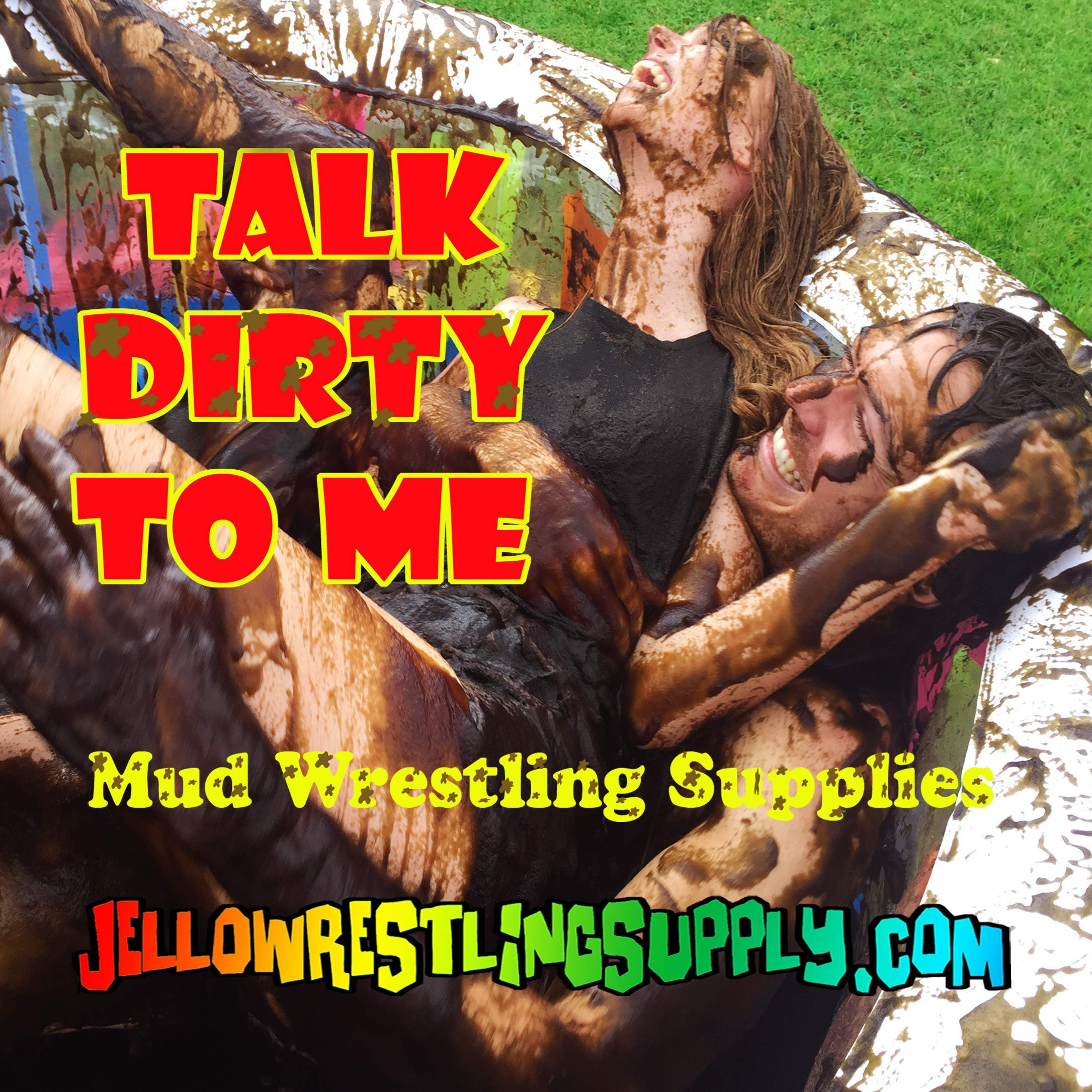 INSTANT MUD for Wrestling, Mud Pies, Balloons & Bombs JUST ADD WATER Bulk Mud powder makes 60 GALLONS of fake mud. Safe, clean mud run obstacle pits, pitch burst, Slime sludge messy kit oil tar by JelloWrestlingSupply.com (Image #5)