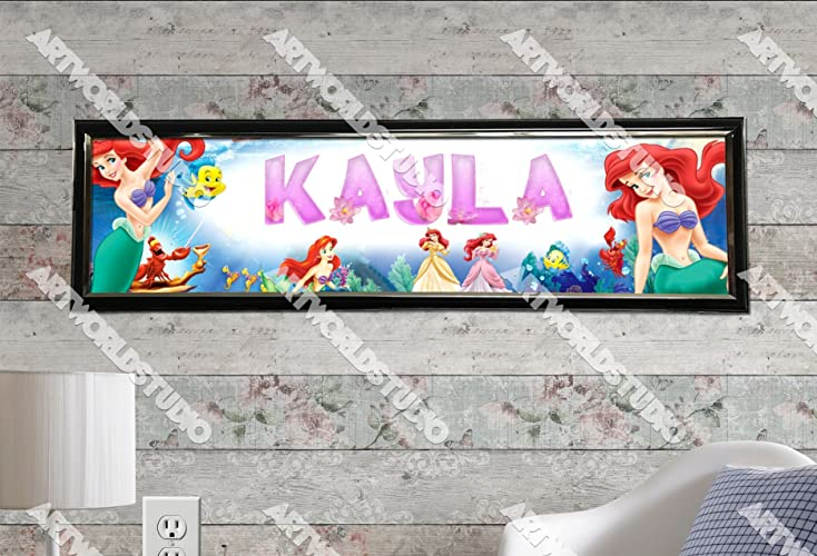 Personalized Customized Spiderman #2 Name Banner Wall Decor Poster with Frame