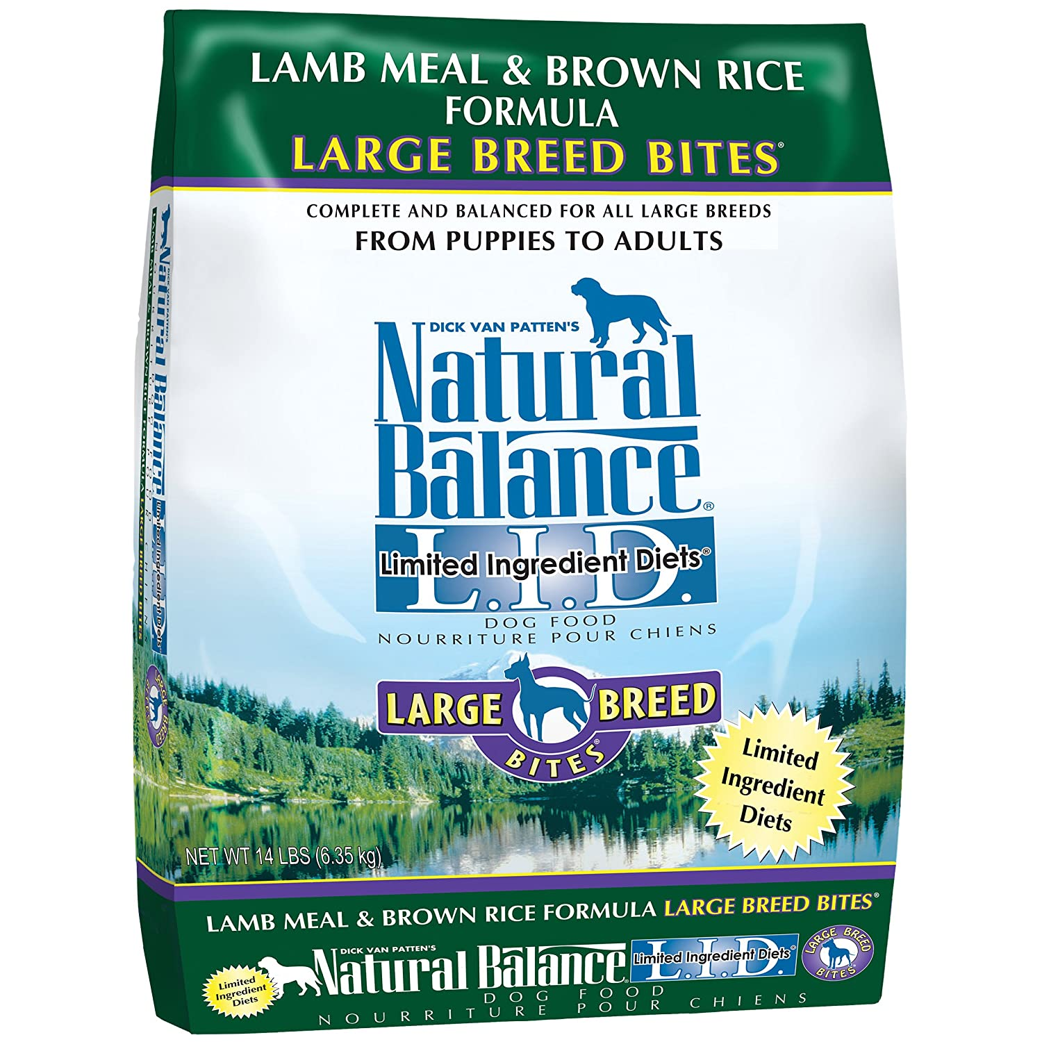 Amazon.com: Natural Balance Large Breed Bites L.I.D. Limited ... | Natural Balance Dog Food Allergies