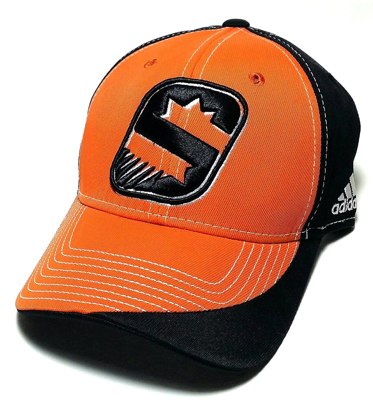 3f4b5423637a9 Amazon.com   Phoenix Suns PHX NBA Adidas Alternate 3rd Logo Black Orange  Dribble Series Snapback Hat Cap   Sports   Outdoors