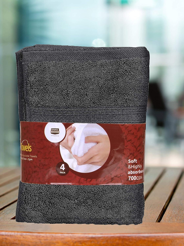 41 x 71 cm, blanc par Utopia Towels 700 GSM coton ensemble de serviettes de main