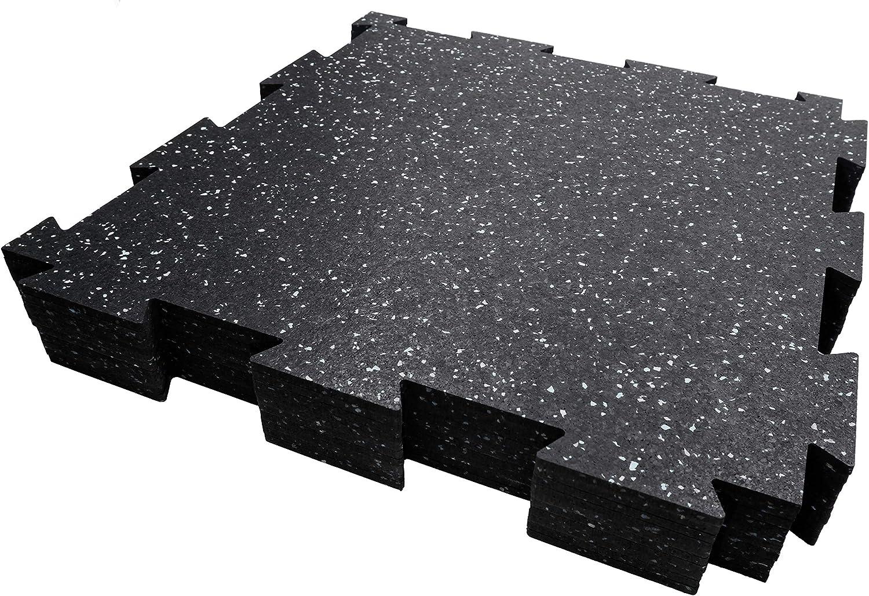 Rubber King Interlocking Tiles Best Indoor Performance Flooring 19 x 19 x 6mm 10pc 23sq ft