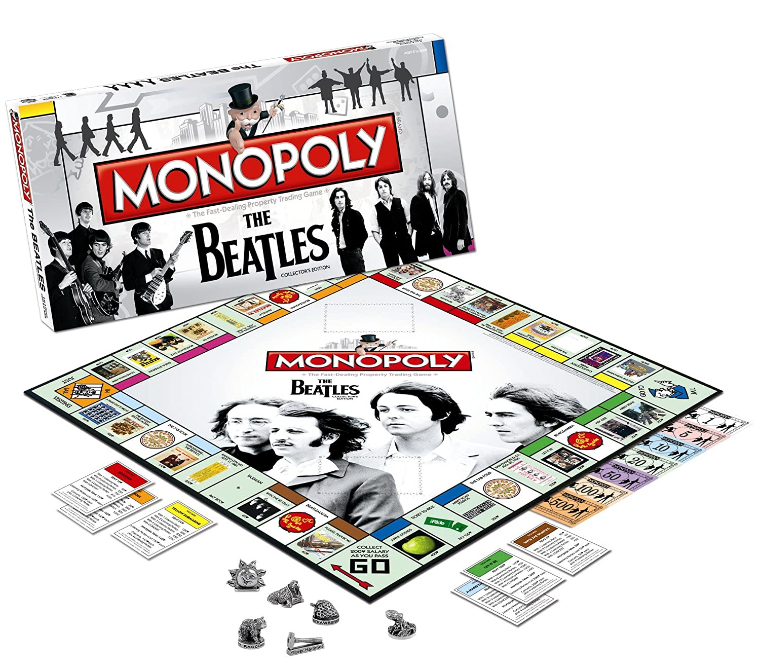 Puzzles Misc Cards Product USAopoly The Beatles Monopoly MN043190 Board Games