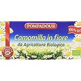 Pompadour Infusione per Bevande Calde, Camomilla in Fiore Biologica - 15 filtri - [confezione da 3]